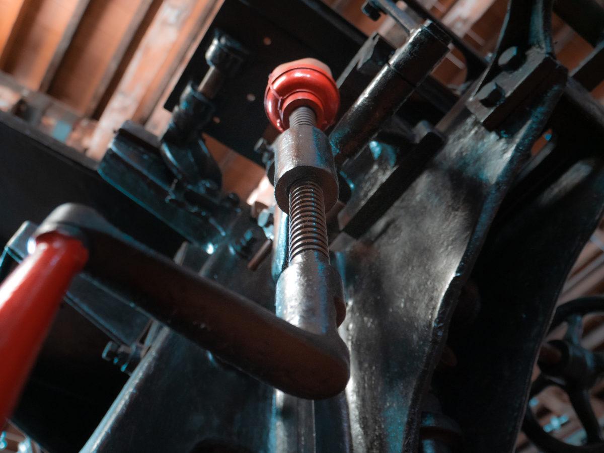 Système de vis d'Archimède sur machine de production