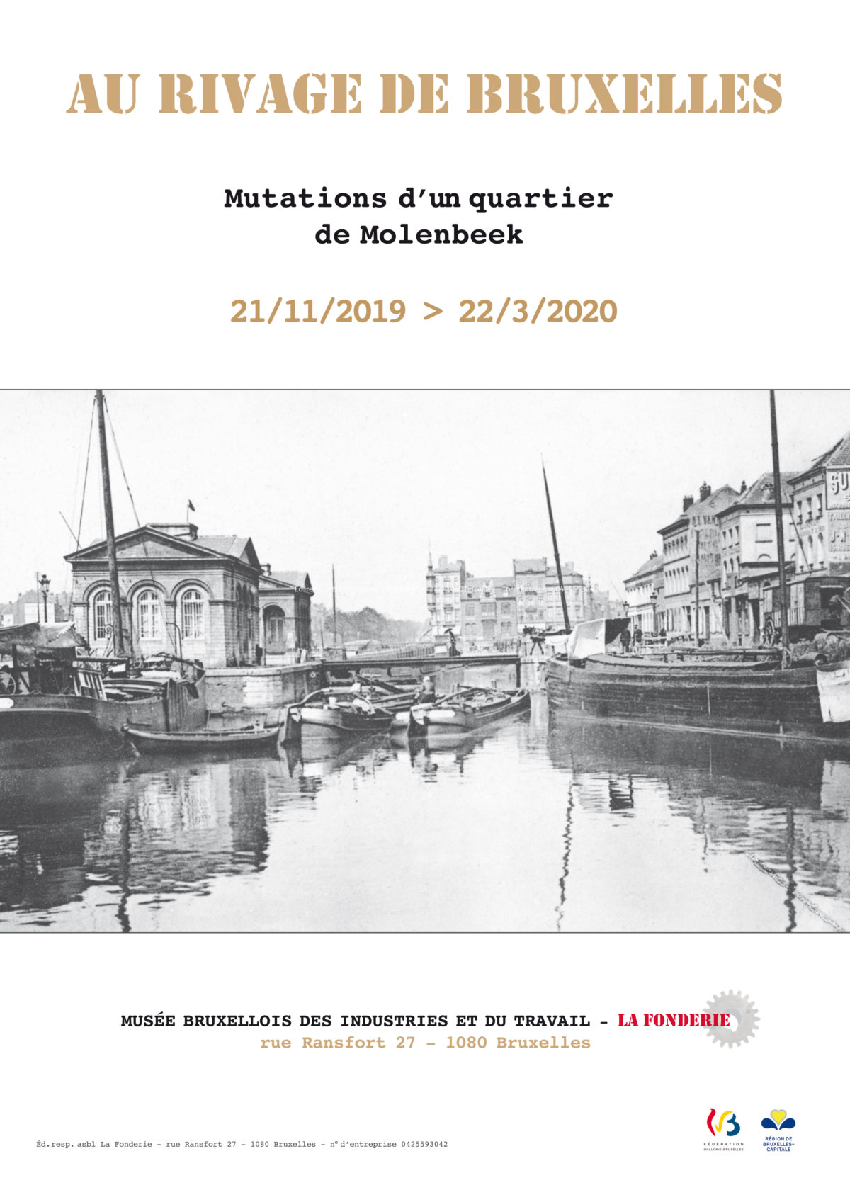 """Affiche de l'exposition """"Au rivage de Bruxelles"""""""