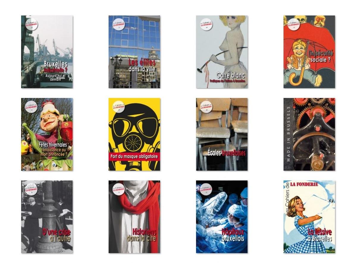 Les couvertures des 12 Cahiers les plus récents.