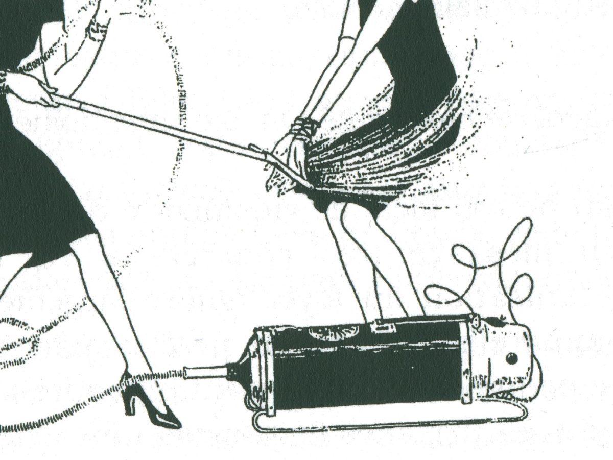 extrait d'une ancinne publicté pour un aspirateur Electrolux