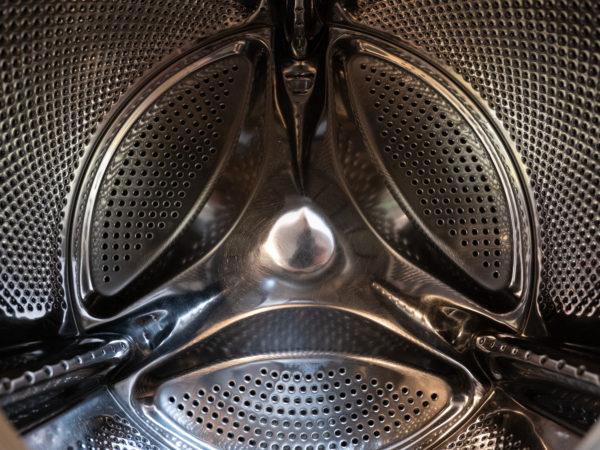 Photo de l'intérieur du tambour d'une machine à laver