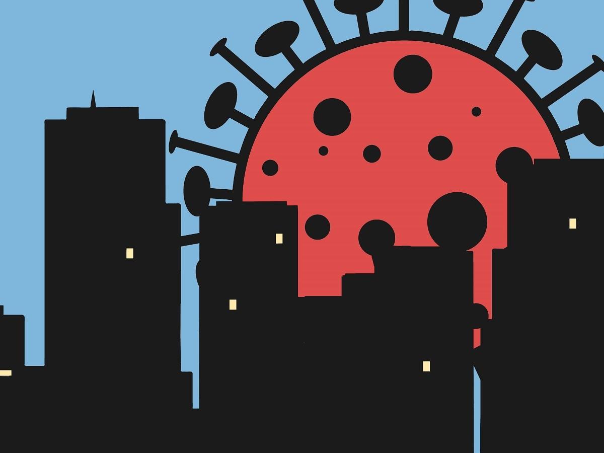 Un virus géant de la Covid menace la ville...