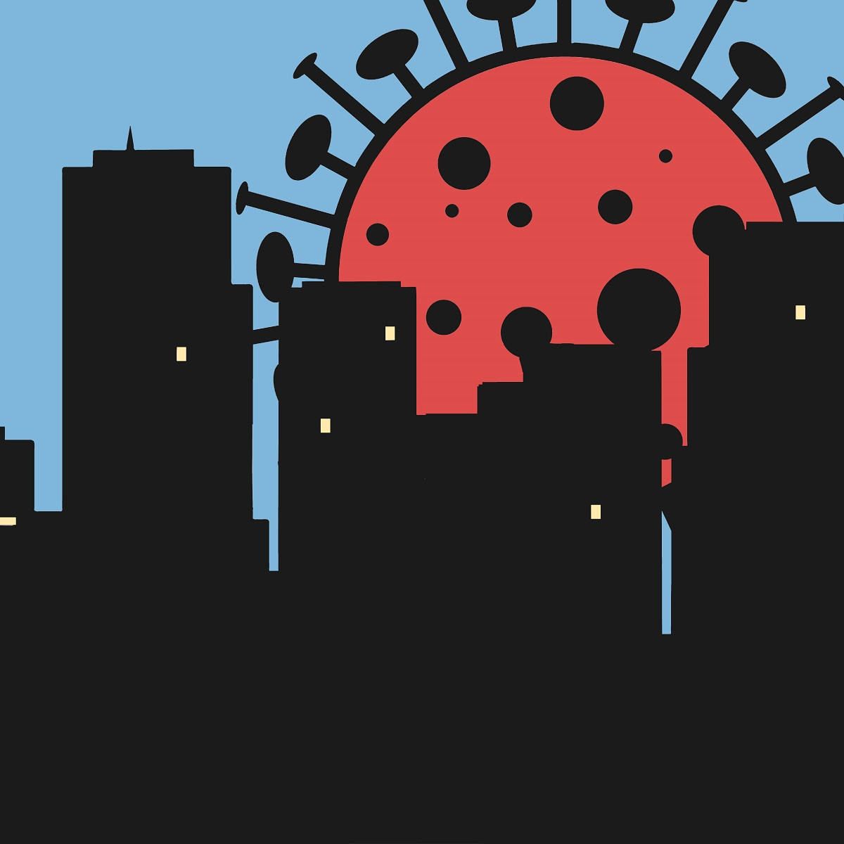 Un virus de la Covid menace la ville qui travaille...
