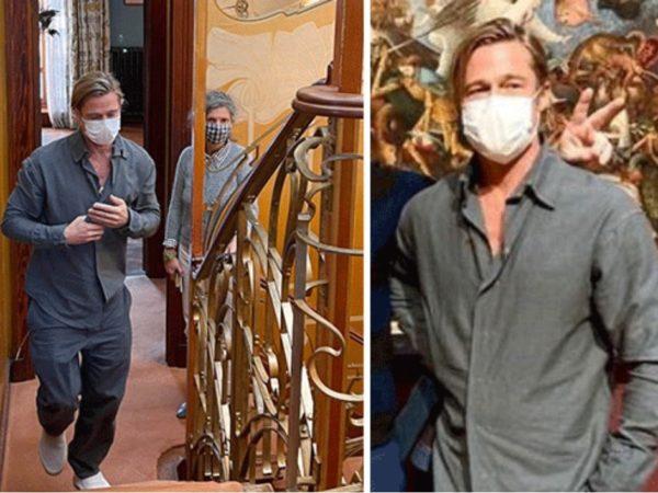 Brad Pitt au musée Horta et au musée royaux des beaux-arts