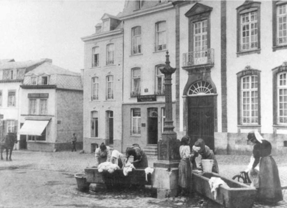 Blanchisseuses à Spa, vers 1890 (Musée de la Lessive, Spa)